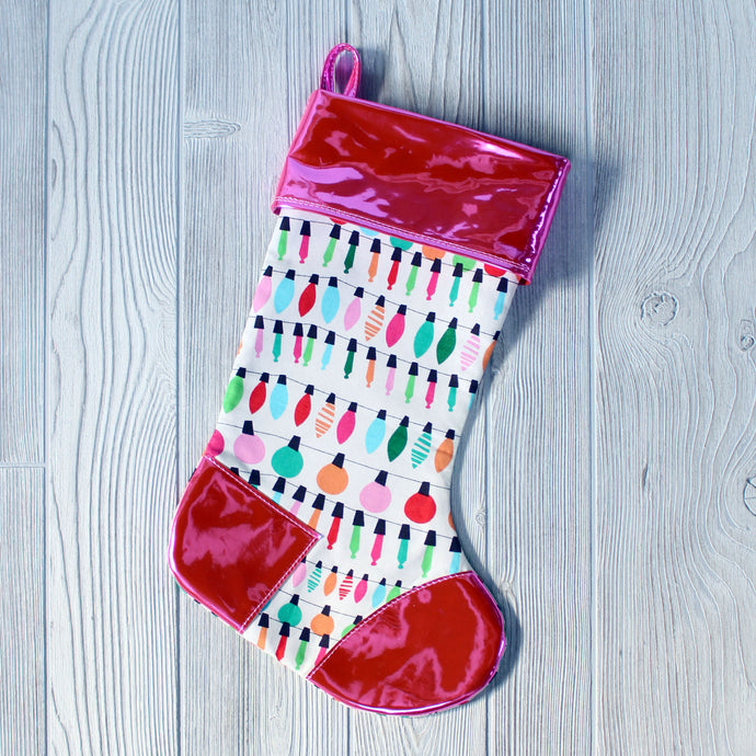 Holiday Armadillo Stocking - PDF Sewing Pattern