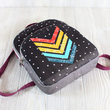 Load image into Gallery viewer, Foundation Paper Piecing Pattern Add-on for Phoebe Mini Backpack