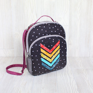Foundation Paper Piecing Pattern Add-on for Phoebe Mini Backpack