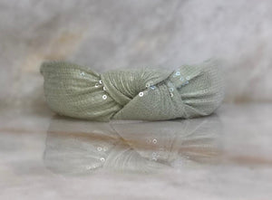 Mint Sequin Headband