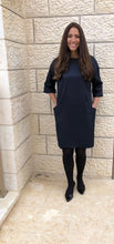 Load image into Gallery viewer, Navy Shift Dress
