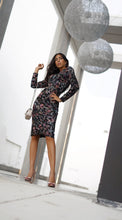 Load image into Gallery viewer, Floral Sequin Sheath Dress