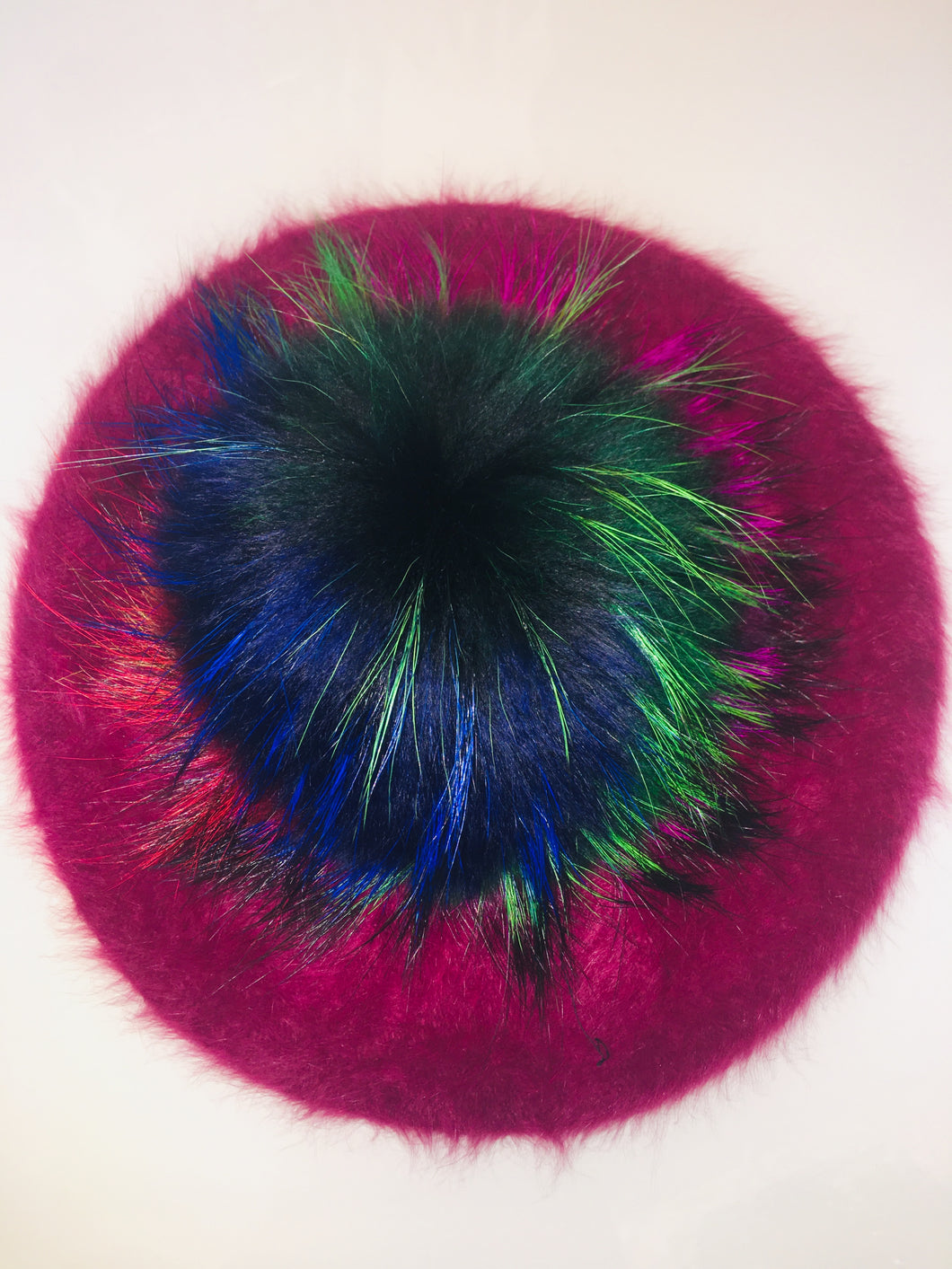 Multi Color Pom Pom  (Maroon Beret)