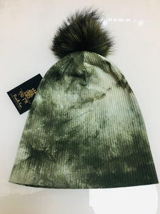 Cotton Beanie with Pom Pom