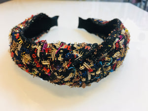 Multi Color Tweed Headband