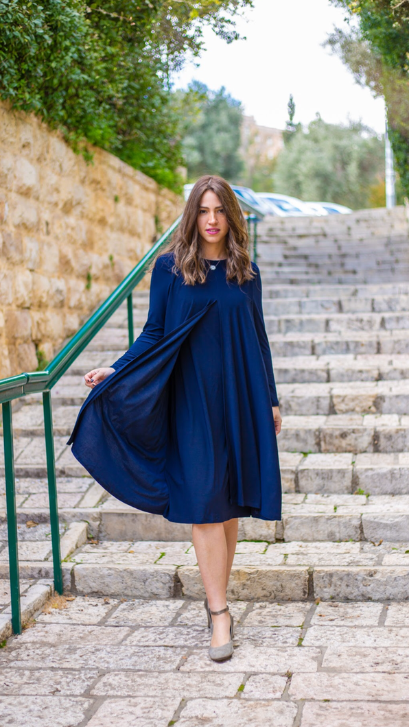 Navy Overlay Dress