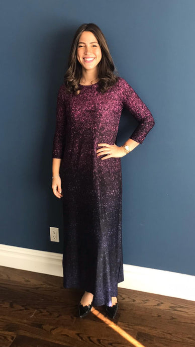 Purple Sequin Maxi Dress
