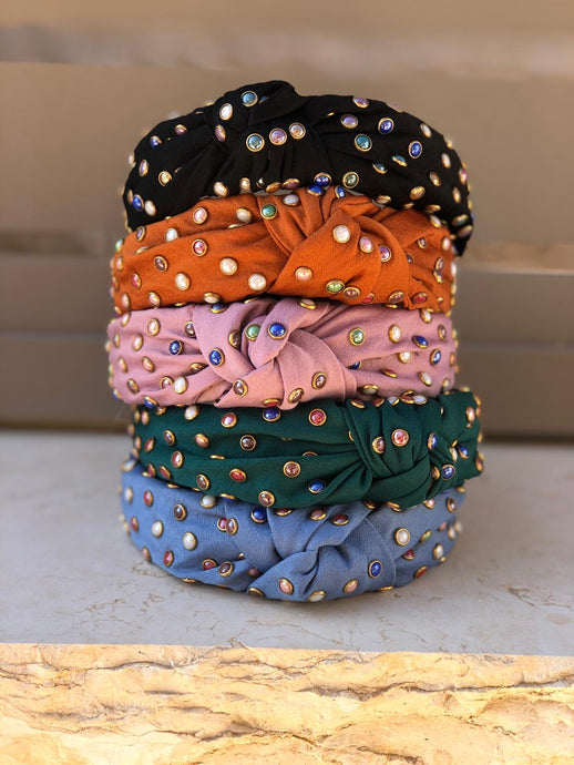 Multi Color Stone Headband