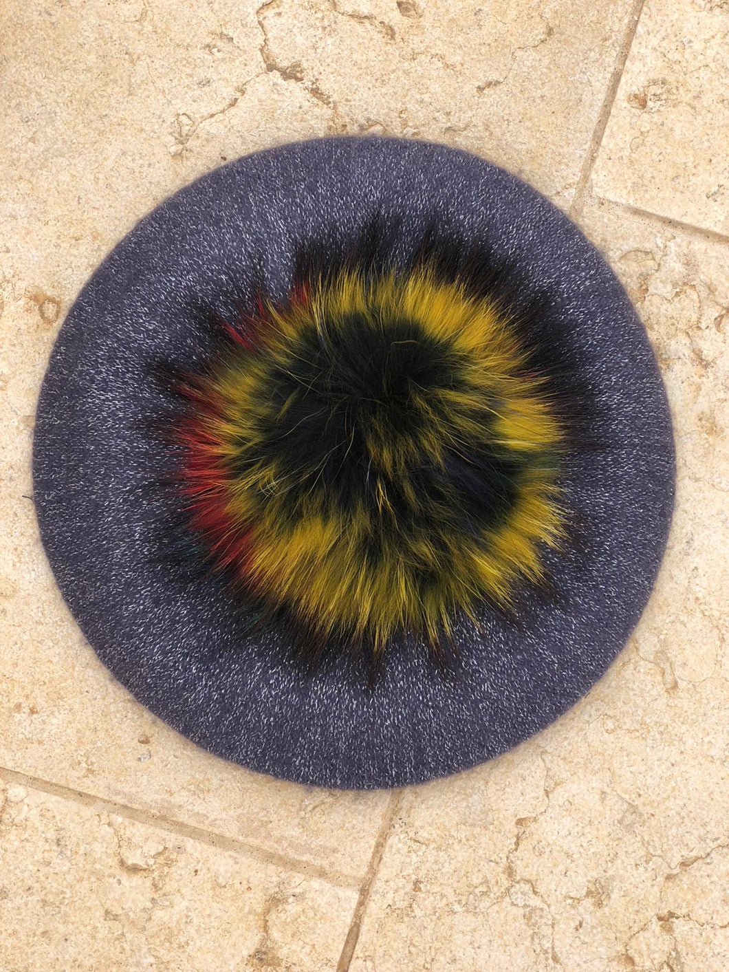 Metallic Thread Beret