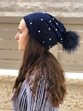 Load image into Gallery viewer, Pearl Pompom Beanie