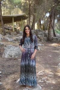 Purple Pattern Maxi Dress