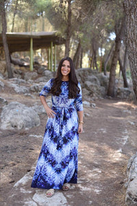 Periwinkle Triangle Maxi Dress
