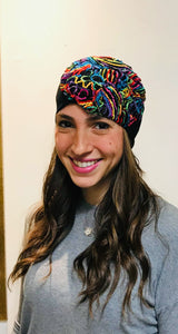 Summer Beanie - Multi Color Flower