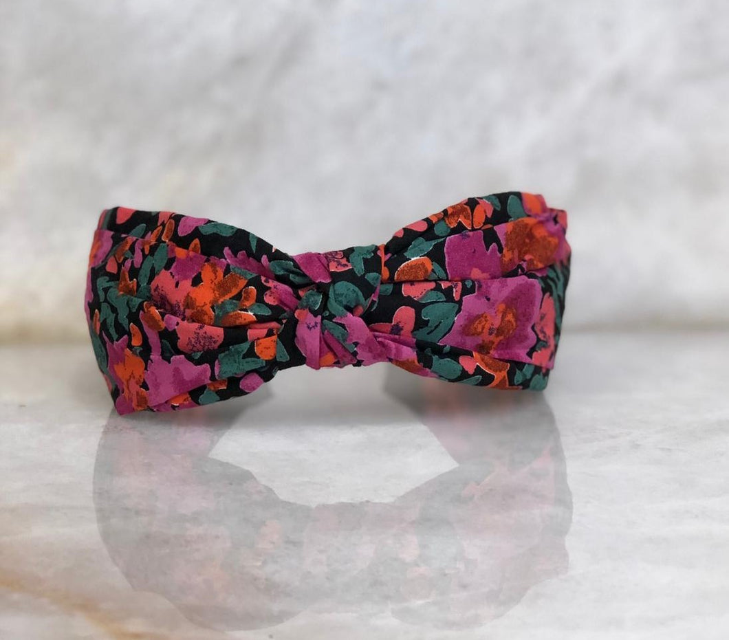 Floral Top Knot Headband
