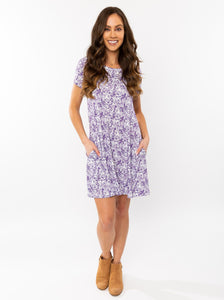 The Tiger Crew Dress | Purple