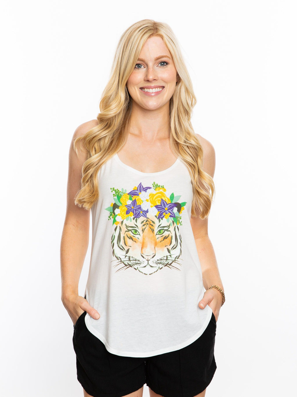The Tiger Crown Tank | White