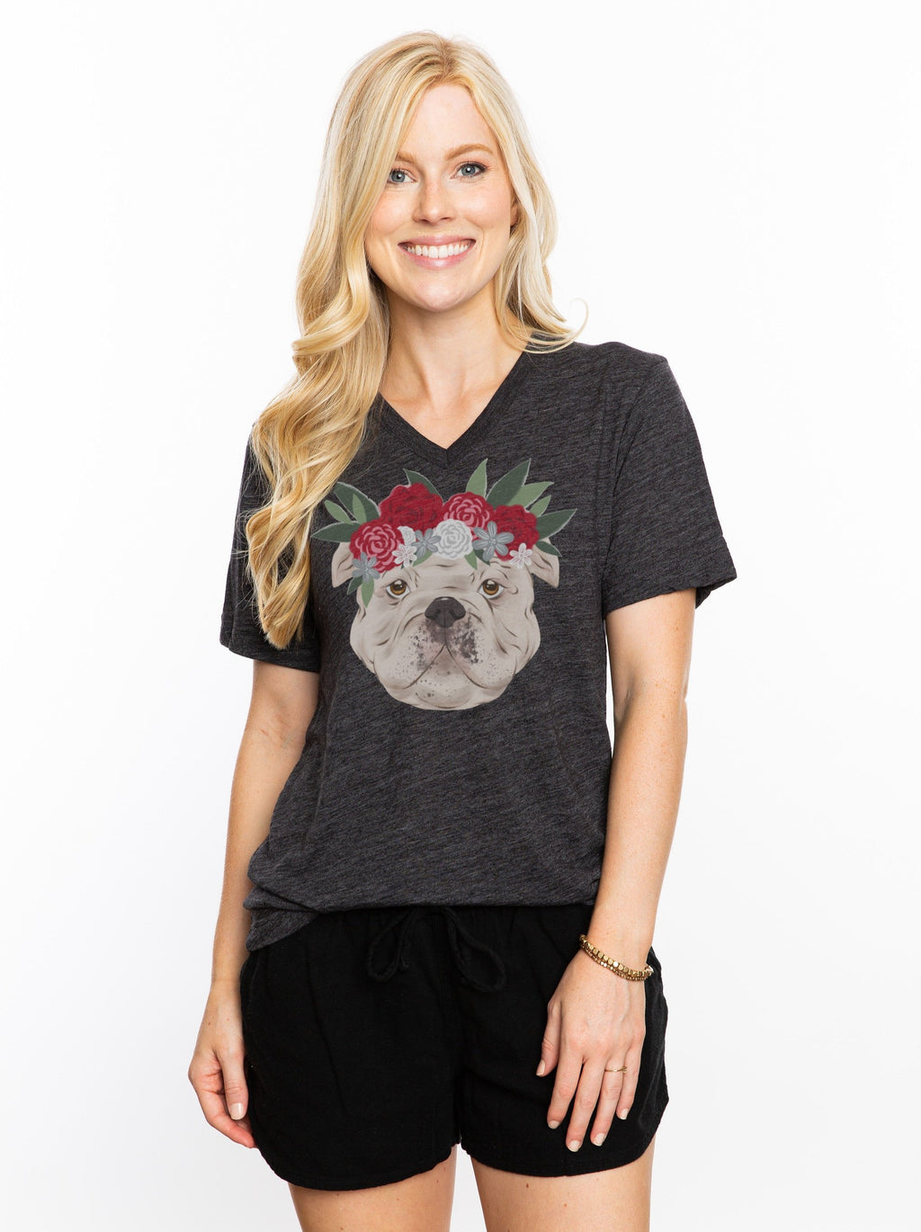 The Bulldog Crown V-Neck