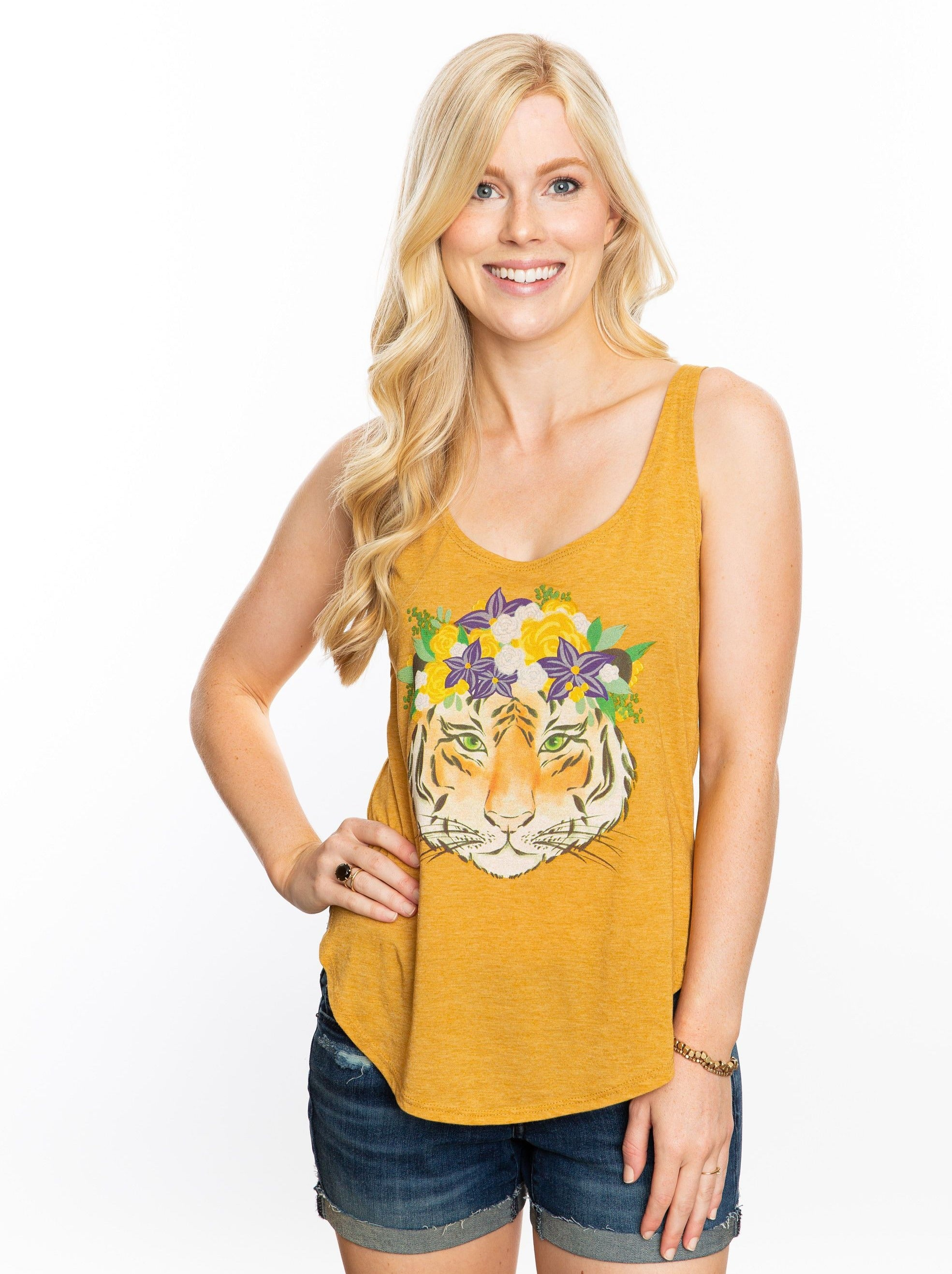 The Tiger Crown Tank | Gold