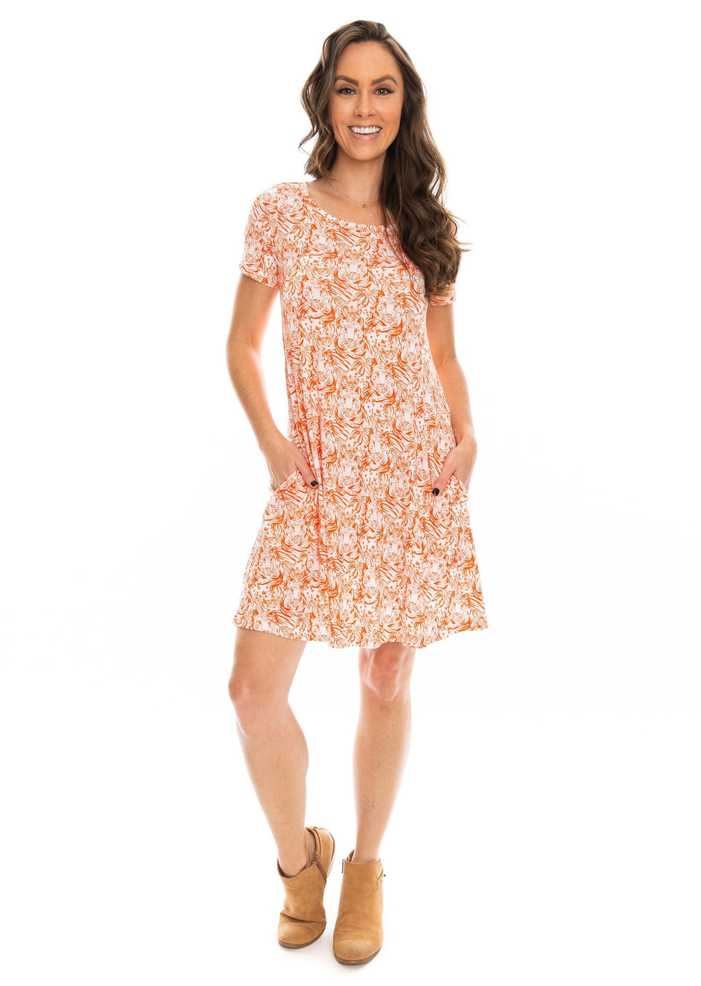 The Tiger Crew Dress | Orange