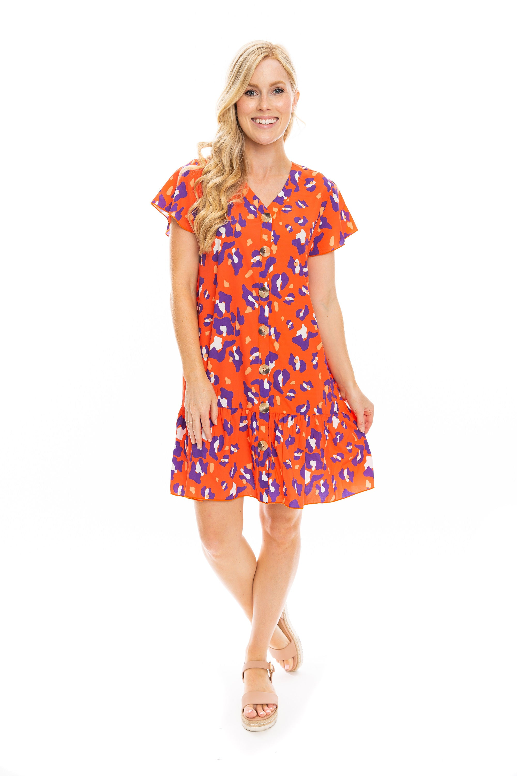 The Ruffle Hem Dress | Cheetah