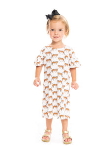 The Girls Watercolor Tiger Dress