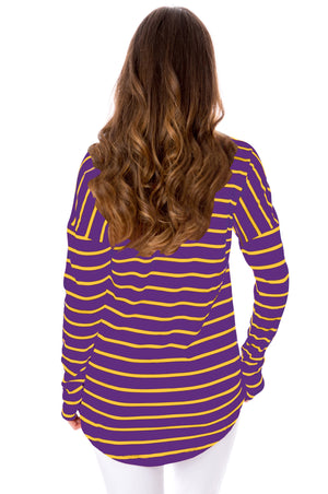 Purple + Gold | Long Sleeve Tee