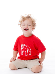 Bulldog | Childs Tee | Red