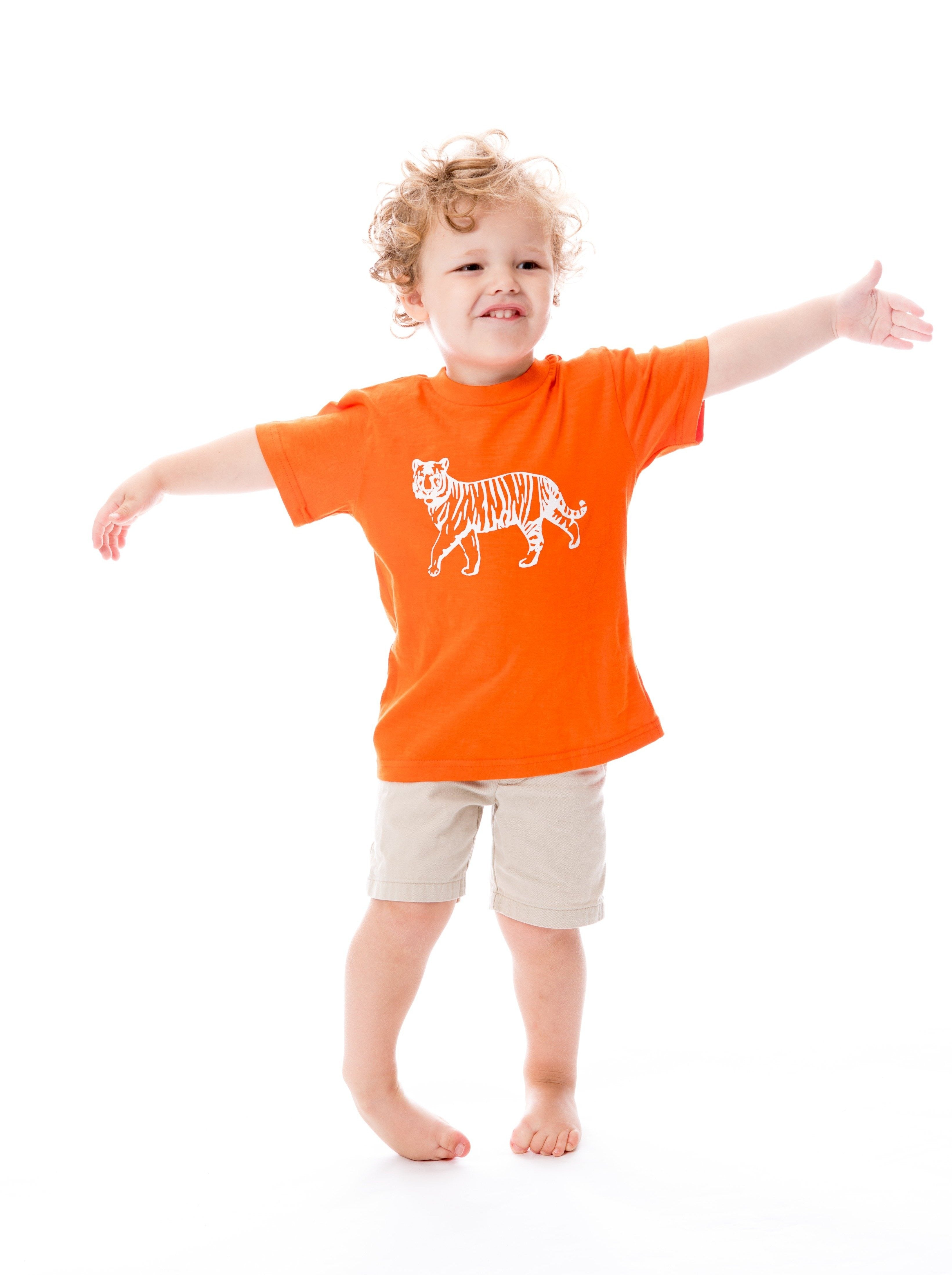 Tiger | Childs Tee | Orange