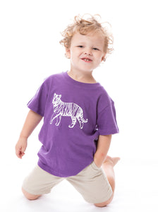 Tiger | Unisex Childs Tee | Purple