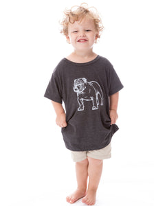 Bulldog | Childs Tee | Gray