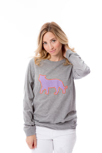 Tiger Applique | Long Sleeve | Purple + Orange