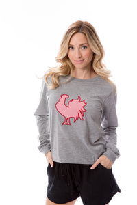 Rooster Applique | Long Sleeve