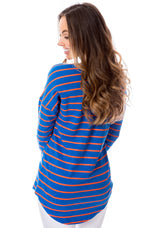 Blue + Orange | Long Sleeve Tee