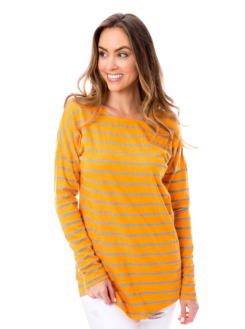 Orange + Gray | Long Sleeve Tee