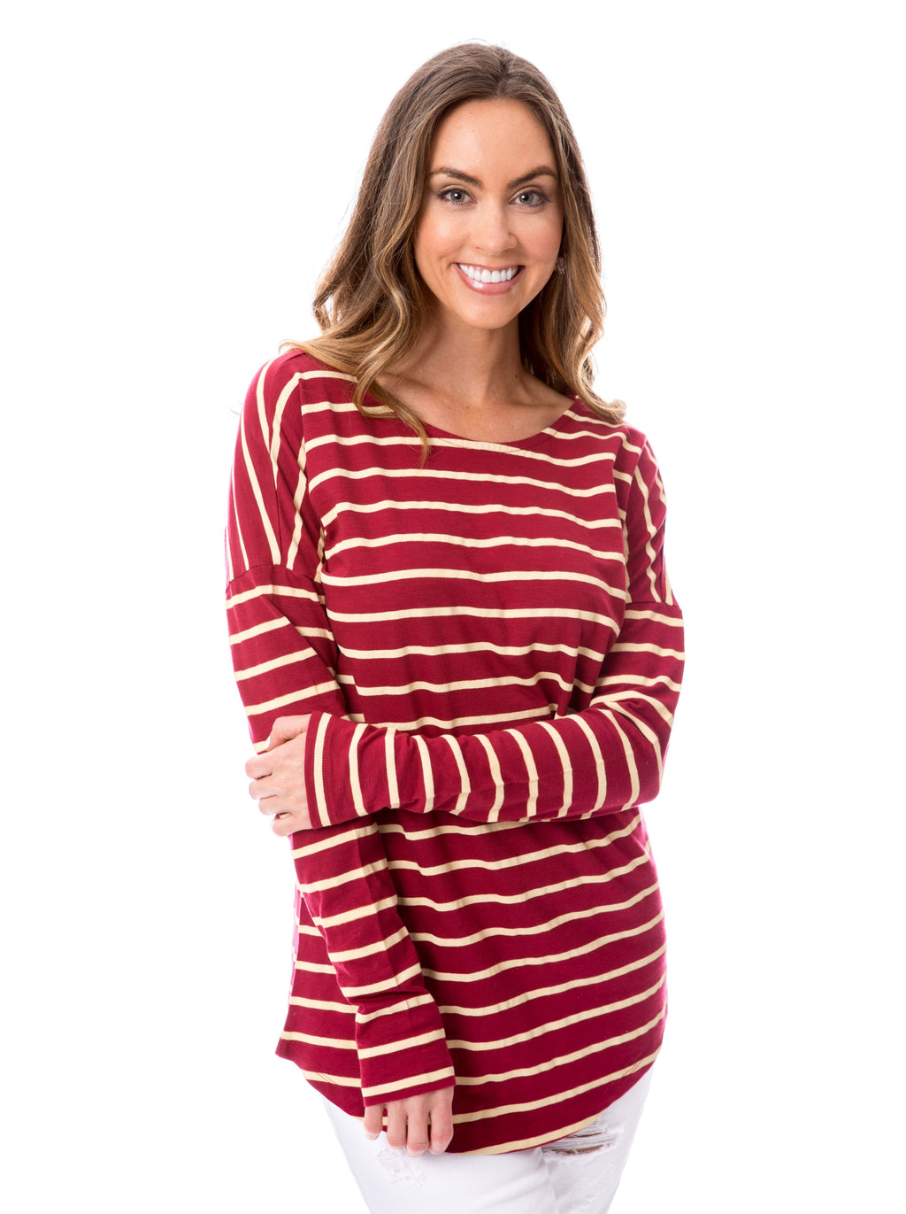 Garnet + Gold | Long Sleeve Tee
