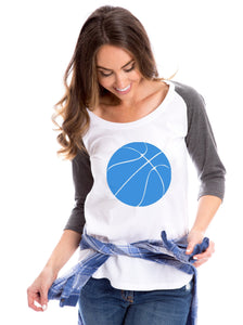 Basketball Raglan | Blue