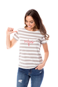 WPS | Striped Tee