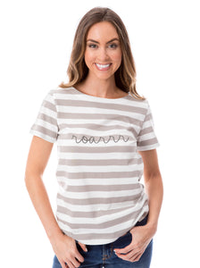 Roarrr | Striped Tee