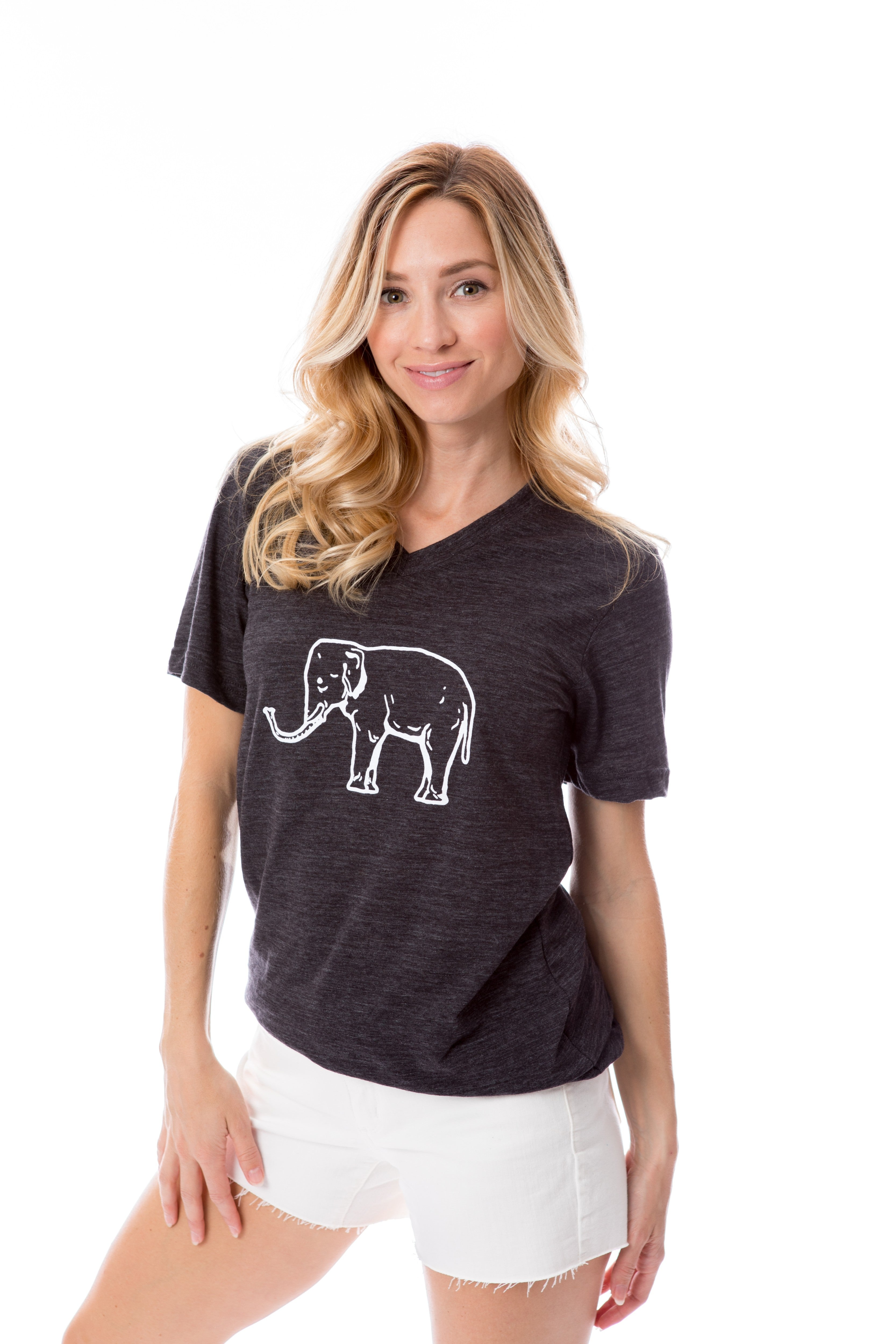 Elephant | V-Neck | Black
