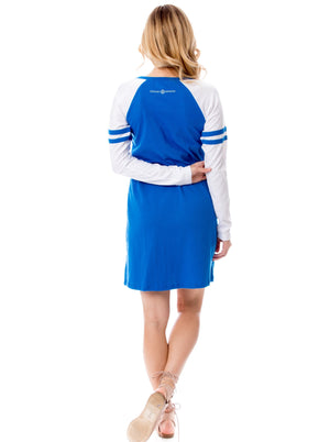 Varsity Dress | Blue + White