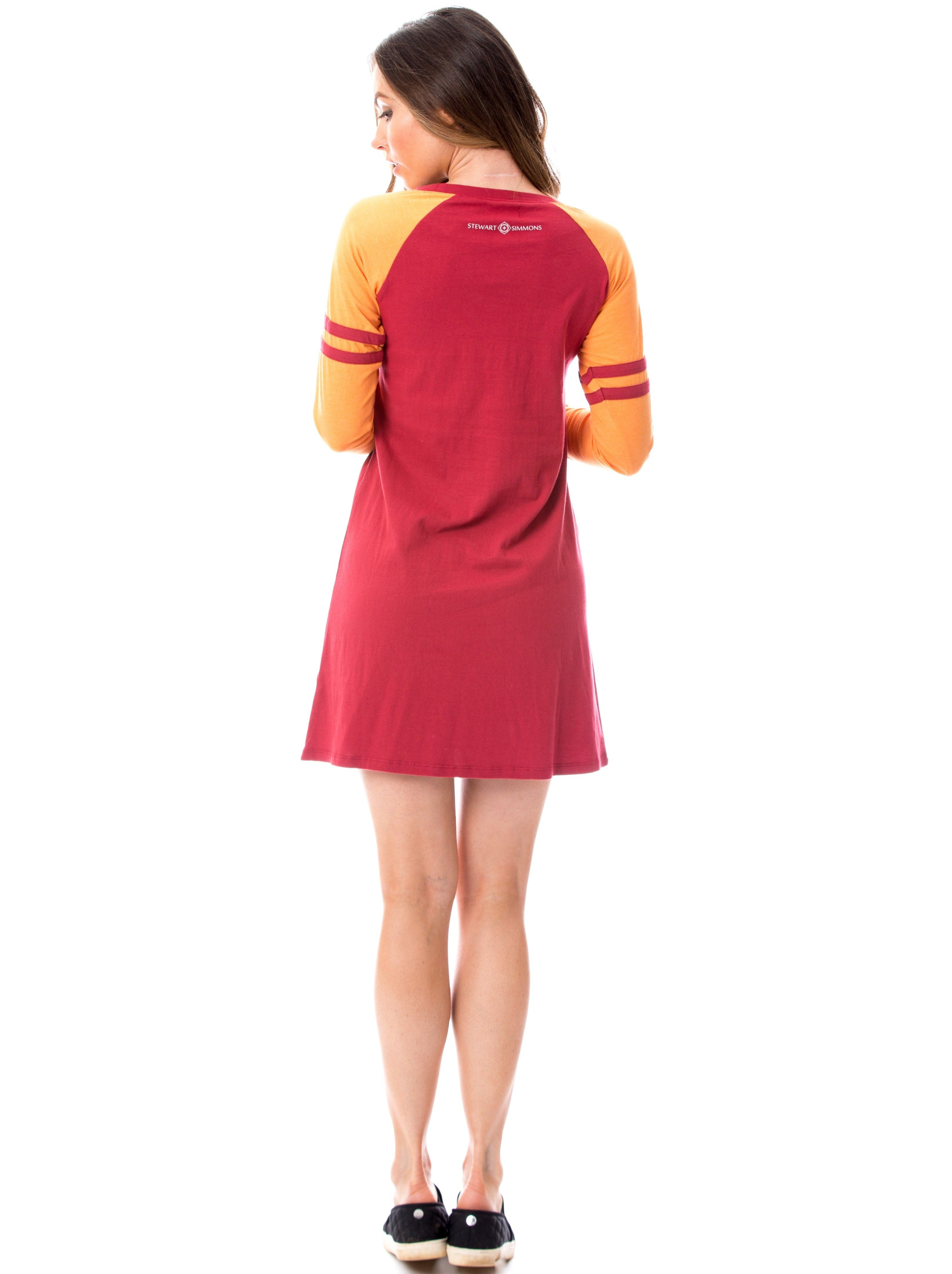 Varsity Dress | Maroon + Orange