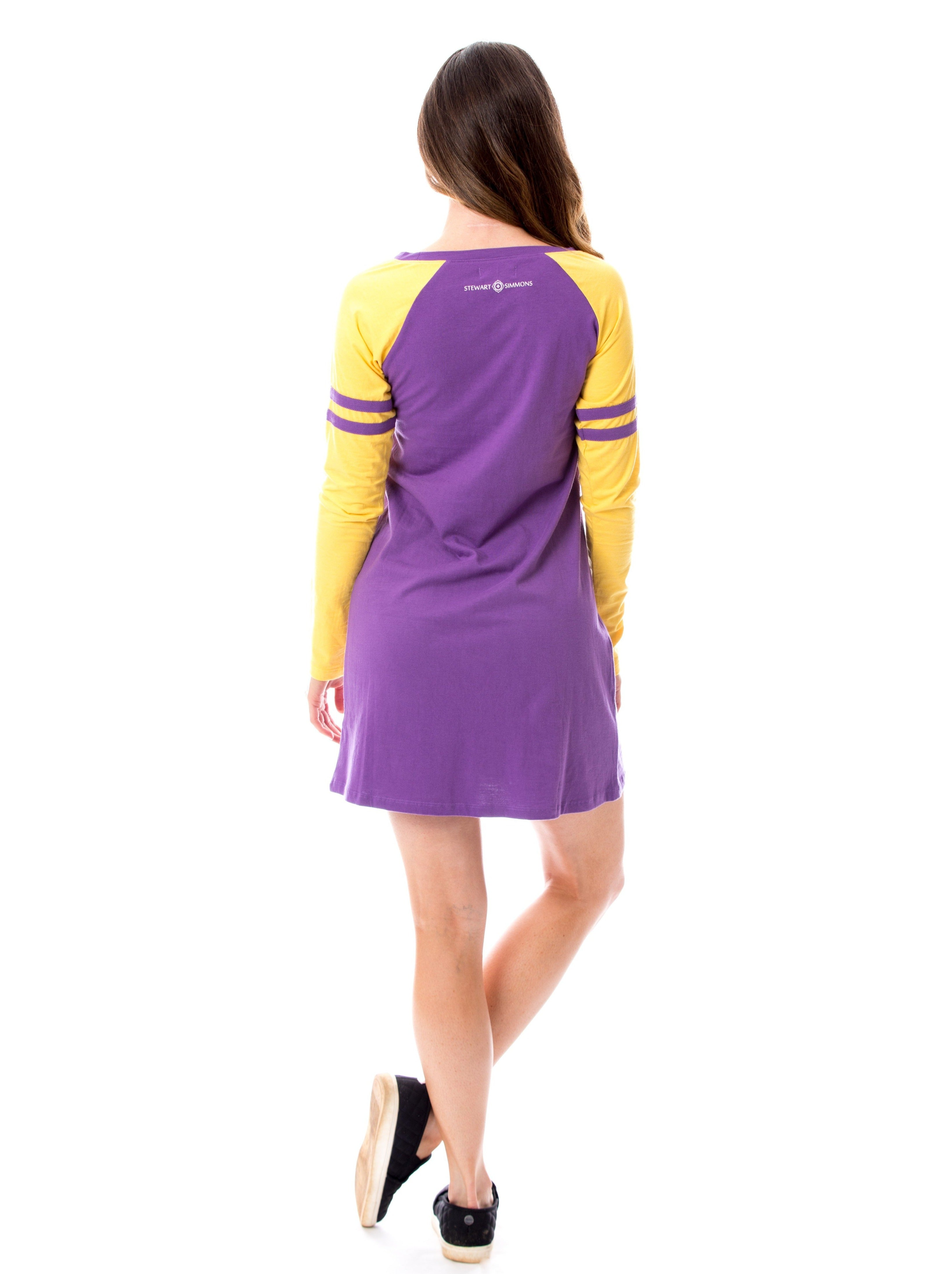 Varsity Dress | Purple + Gold