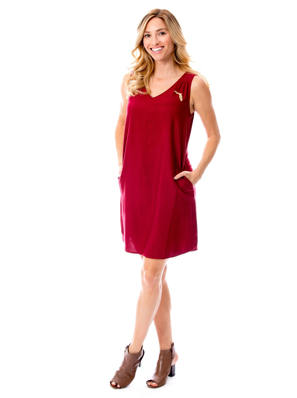 Florida | Shift Dress | Garnet