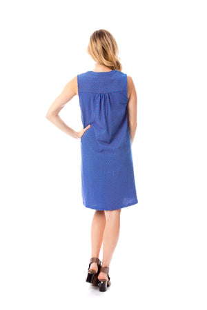Blue Orange Shift Dress Stewart Simmons