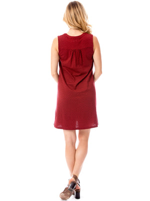 Garnet + Black | Shift Dress