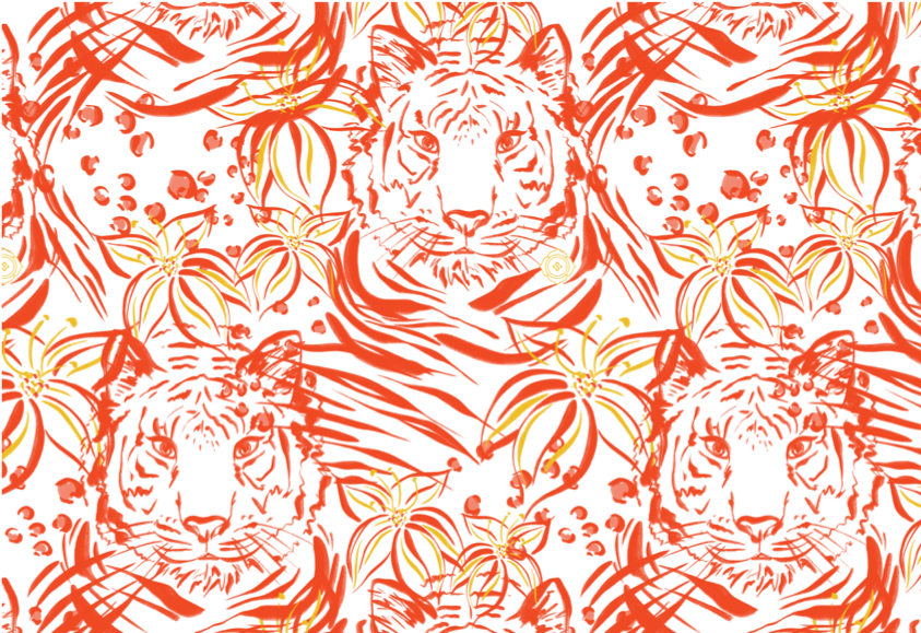 Reversible Tank | Orange Tiger Print