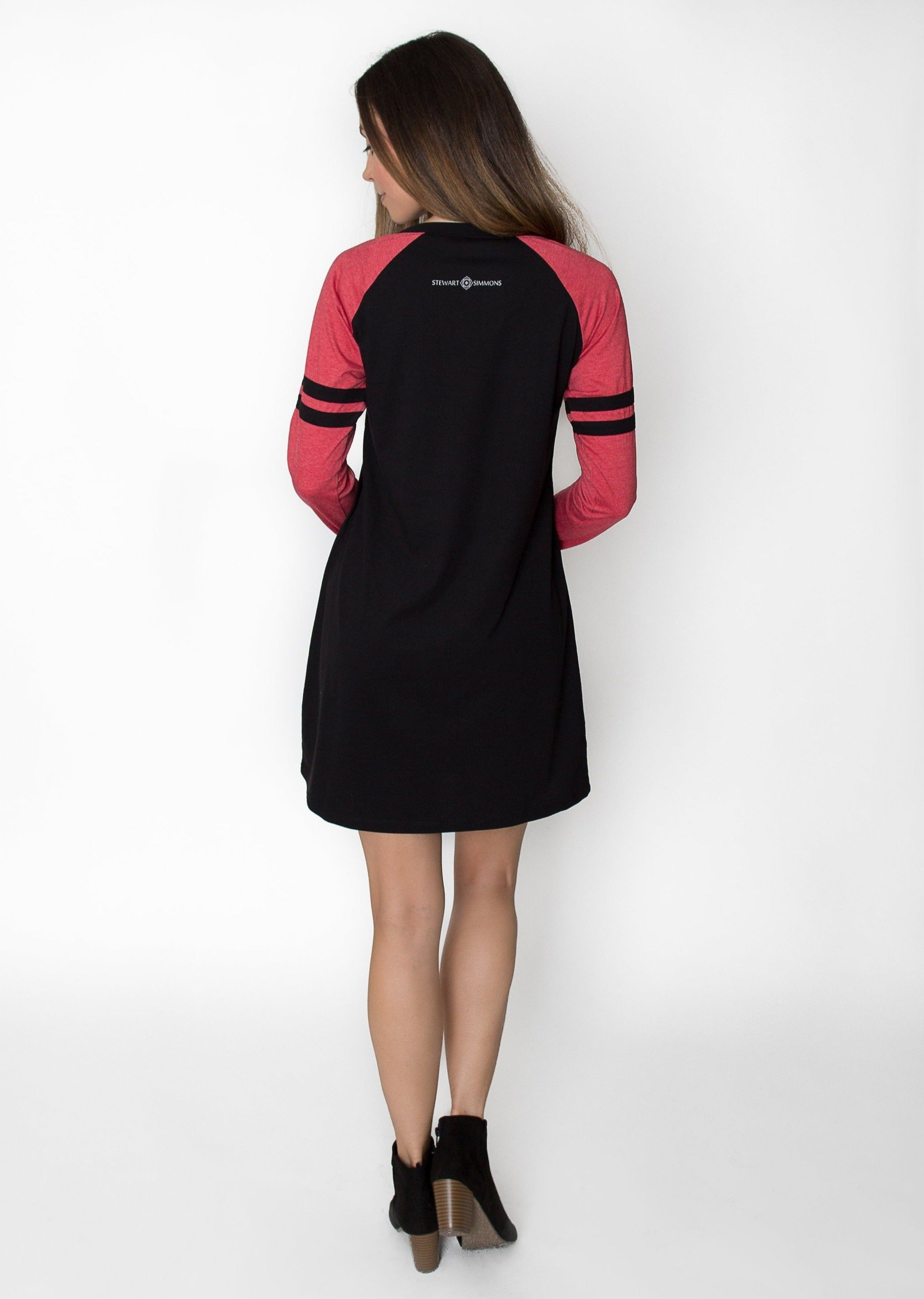 Varsity Dress | Red + Black