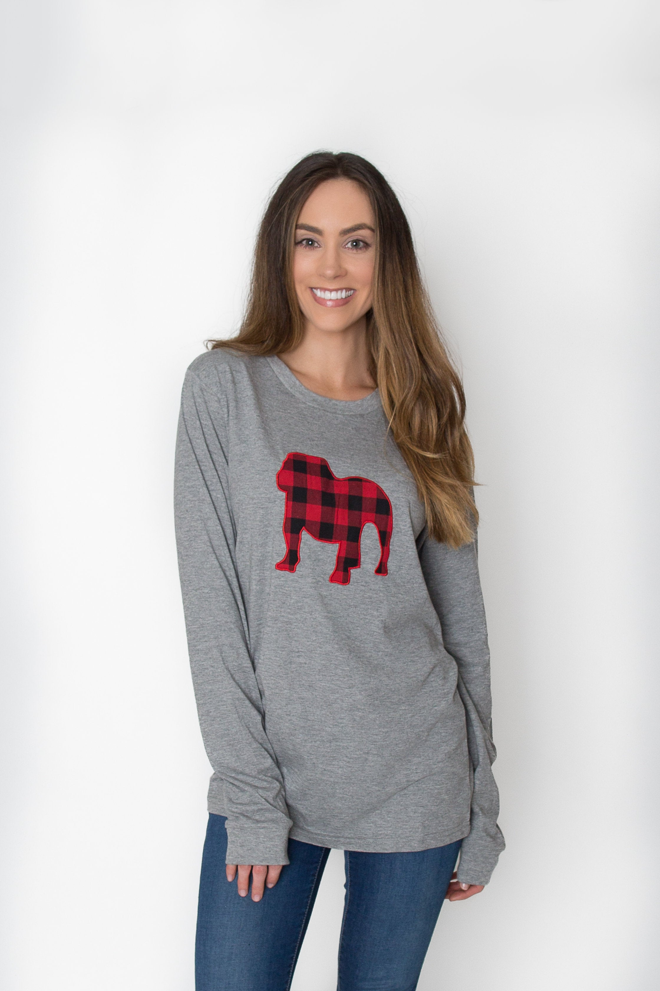 Bulldog Applique | Long Sleeve