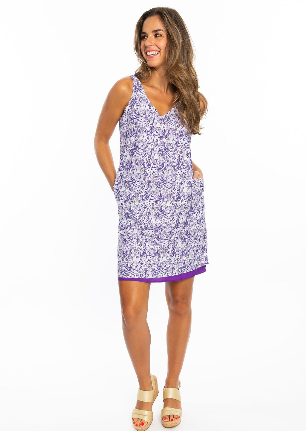 Reversible Dress | Purple Tiger Print