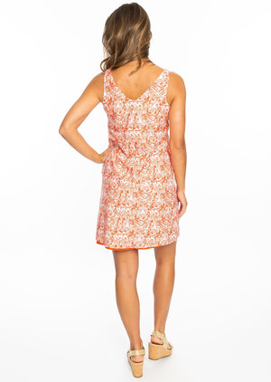 Reversible Dress | Orange Tiger Print